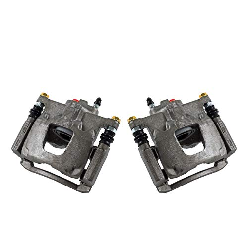 Callahan CCK02476 [2] REAR Premium Grade OE Semi-Loaded Caliper Assembly Pair Set
