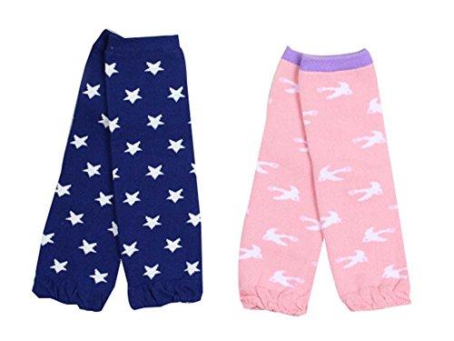 Blancho Bedding Set von 2 Star/Vogel Muster Baby Socken Baby-Leggings Baby Beinlinge, 0-3 Jahre