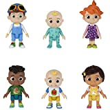 CoComelon Official Friends & Family, 6 Figure Pack - 3 Inch Character Toys - Features Two Baby JJ Figures (Tee and Onesie), Tomtom, YoYo, Cody, and Nina - Toys for Babies and Toddlers