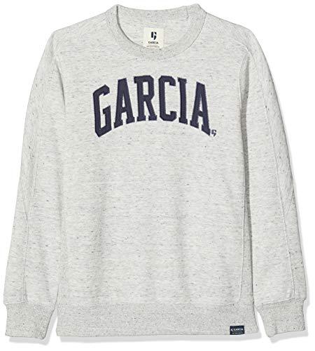 Garcia Kids Jungen L93660 Sweatshirt, Grau (Grey Melee 66), 152 (Herstellergröße: 152/158)