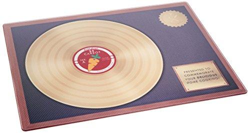 Joseph Gold Record Tagliere, Vetro, Nero, 41x32.5x0.3 cm
