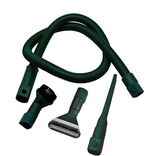 Schlauch Set geeignet für Vorwerk Kobold 118 119 120 121 122 Tiger 250 251 (alle Werkzeuge MIT ADAPTER zur sofortigen Nutzung !!) - KEIN ELEKTROSCHLAUCH -