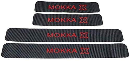 Para Opel Mokka, Antiarañazos Placa Bienvenida,Coches StickerFibr Carbono Protectores De Coche, Antideslizantes Antirrayas