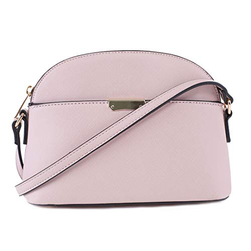EMPERIA Ava Small Bell Curve Crossbody Bag Purse for Women Pink Size: None