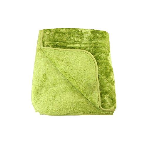 Amago 40024-80-8020 Wohn-& Kuscheldecke, Cashmere-Feeling, 100prozent polyester, Limone, 180 x 220 cm