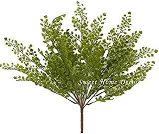 Sweet Home Deco UV Protected Maidenhair Fern Artificial Bush Indoor/Outdoor Water-Resistant Greenery (18'' Green Bush x 1)