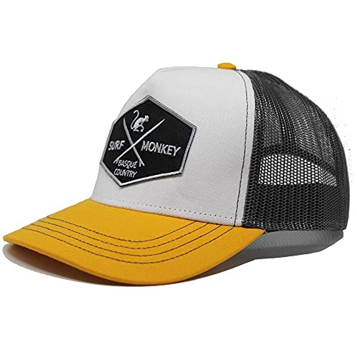 DRESSED IN MUSIC PLAY WITH ME Berretto tipo Trucker Origins da baseball regolabile – Cappelli da uomo, grigio / giallo, Taglia unica