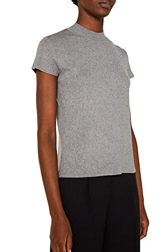 ESPRIT Collection Damen 129EO1I011 Pullover, Grau (Grey 5 034), X-Small (Herstellergröße: XS)