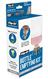 Flip-It! Bottle Emptying Kit - Get Every Last Drop Out of Lotions, Shampoos, Conditioners and Kitchen Condiments BPA Free - Dishwasher Safe (6 Pack, Pastel Colors)