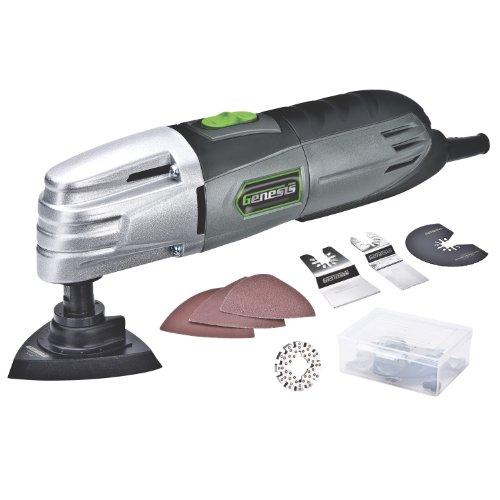 Genesis GMT15A 1.5 Amp Multi-Purpose Oscillating Tool and 19-Piece...