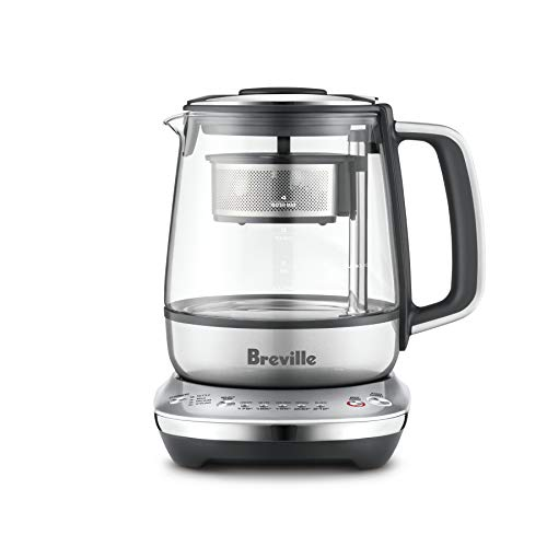 Breville BTM700SHY1BUS1 Compact electric countertop tea maker, Smoked Hickory