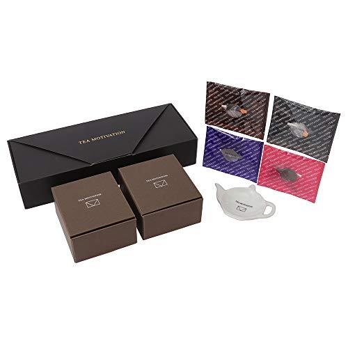 【包装済みギフト】ティーバッグレスト(ホワイト)付き紅茶ギフトセット ティーバッグ4種アソート22包入り TEA MOTIVATION