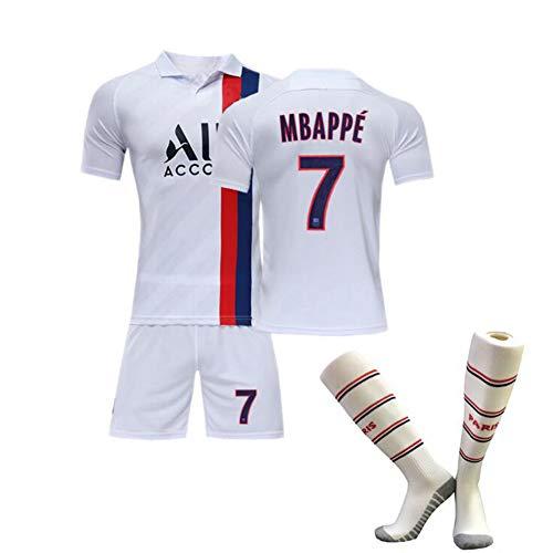 DLBJ Jungen Kinder Frankreich Fußball Team T-Shirt Set, Neymar Mbappé Cavani, Champion Trikot Fußball Trikot Sport T-Shirt + Sport Shorts,M#