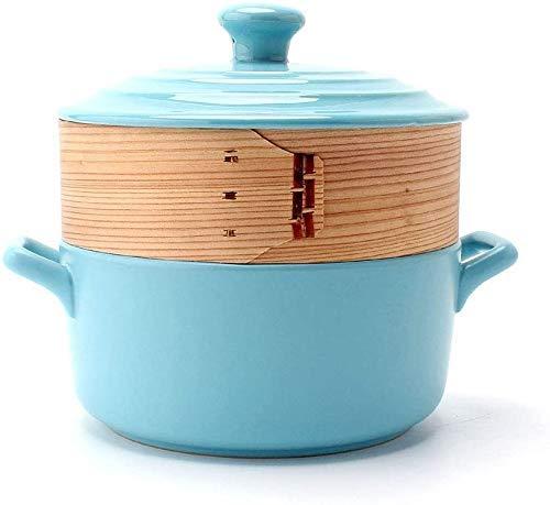 YUEZPKF Práctico Casserole Plates Casserole Cerámica Stockpot Stef Pot con Tapa Redonda y vaporizador es Compatible con Varias Fuentes de Calor, Excepto Las cocinas de inducción (Color: Naranja)