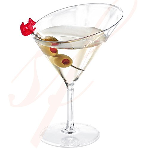 Sweet Flavor Disposable Plastic Mini Martini Glass 3 Oz. Pack of 10 Pieces.