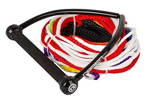 "O'Brien 75' 8-Section Slalom Waterski Rope 12"" Wide Aluminum-core Rubber Handle"