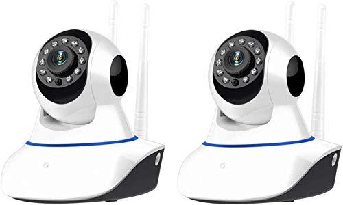 MANIASHOP KIT 2 Telecamere IP CAMERA wi-fi HD 720p motorizzata infrarossi con app YOOSEE