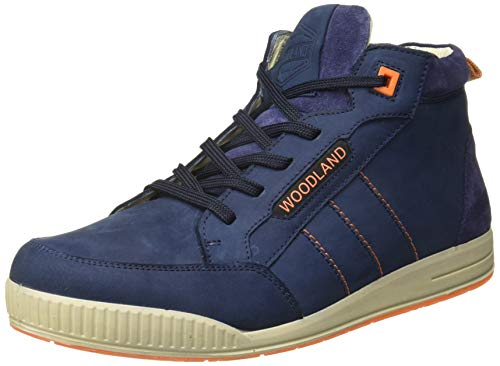 Woodland Men's DROYAL Blue Leateher Boots -10 UK/India (44 EU)-(OGB 2787118)
