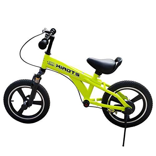 ERLAN Bicicletas sin Pedales Bicicleta de Equilibrio para Niños Grandes con Freno de Mano, Principiante Sin Bicicleta de Pedales para Niñas/Niños Pequeños, Neumáticos de Goma d 14/16 Pulgadas