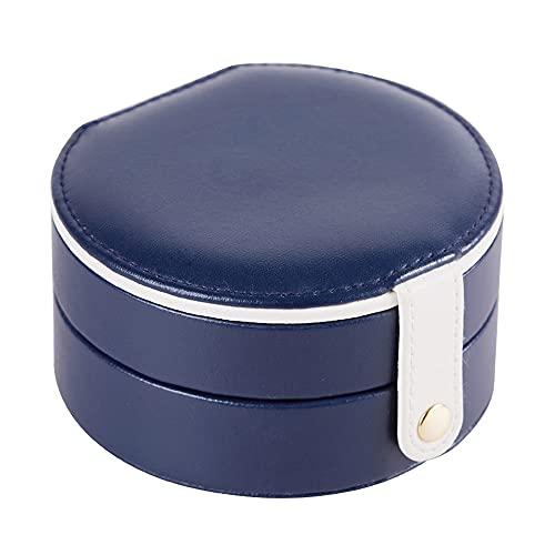 Caja de joyería, anillo, anillo para el oído, brazalete, caja de almacenamiento de cuero PU, organizador de joyas para viajes de negocios y viajes portátiles