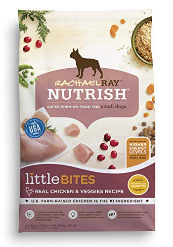 Rachael Ray Nutrish Little Bites Small Breed Premium Natural Dry Dog Food, Real Chicken & Veggies Recipe, 6 Pounds