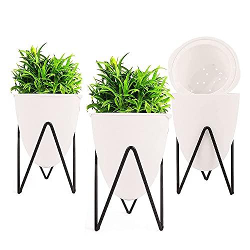 QQRR Soportes para Plantas, 3 Piezas Macetas Plantas Interior, Soportes para Plantas De Metal, con...
