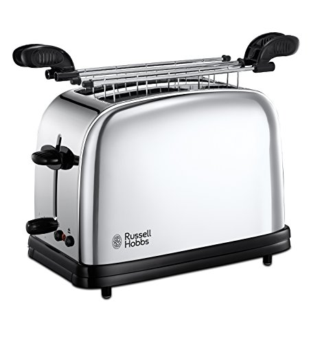 Russell Hobbs Toaster Grille Pain 1200W, 2 Fentes, Chauffe Viennoiseries, 6 Niveaux de Brunissage - 23310-57 Chester