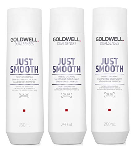 3er Goldwell Dualsenses Just Smooth Bändigungs Shampoo 250 ml