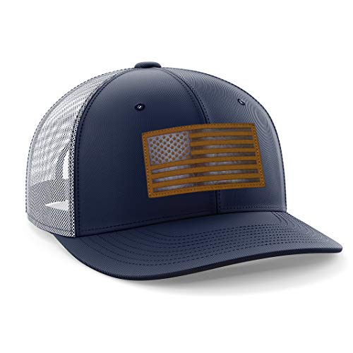 The Fighting Forces American Flag USA Snapback Cap- Mesh Ball Perfect for Any Activities Outdoor (Navy Blue)