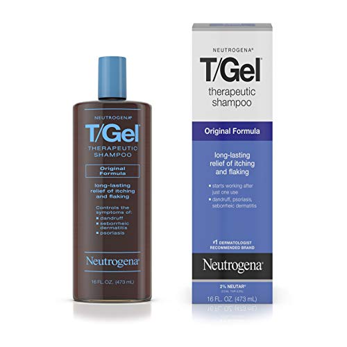 Neutrogena T/Gel Therapeutic Shampoo Original Formula, Anti-Dandruff Treatment for Long-Lasting Relief of Itching and Flaking Scalp as a Result of...