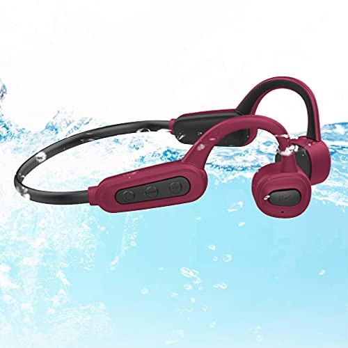 Cuffie Wireless per Nuoto Open-Ear Auricolari Bluetooth 5.0 a Conduzione Ossea, IPX8 Impermeabili 16GB Nuoto Lettore MP3, Cuffie Senza Fili Stereo da Sportivi Corsa per Bambini Adulti Red