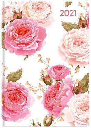 Ladytimer Mini Roses - Taschenkalender A7 - Kalender 2021 - Alpha Edition-Verlag - Eine Woche auf 2 Seiten - Buchplaner mit Lesebändchen und Platz für Notizen - Format 8 cm x 11,5 cm