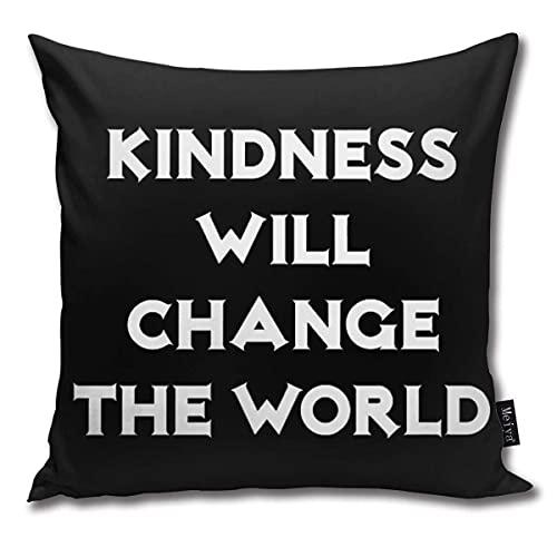 Freundlichkeit Wird die Welt verändern Kissenbezüge 45*45cm für Couch Bed Farmhouse Christmas H