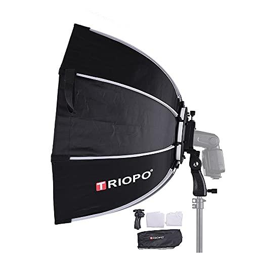 TRIOPO プロ ソフトボックス 65cm 折りたたみ 八角型 Canon/Nikon/Sonyスピードライト スタジオフラッシュに適用