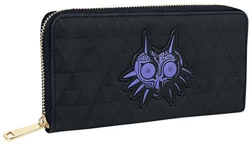 Nintendo Zelda Purse Majoras Mask Logo Nue offiziell Schwarz Zip Around