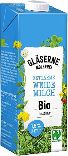 Gläserne Molkerei Bio fettarme Bio-H-Milch 1,5% (6 x 1 l)