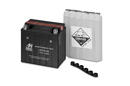 Motorrad Batterie AGM MIDAC mtx14-bs (YTX14)