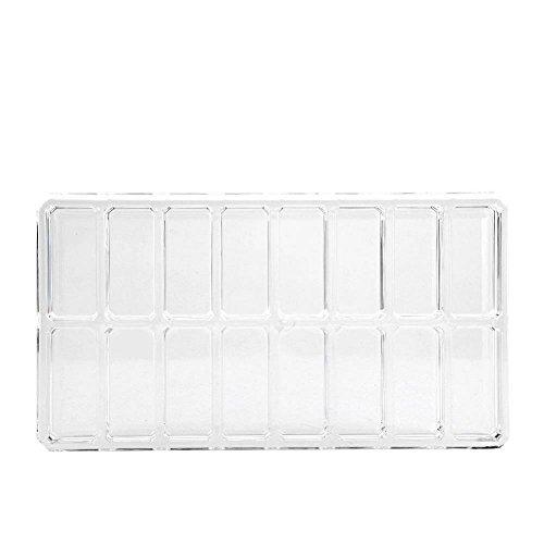 Caja de organizador de maquillaje de 16 rejillas, acrílico transparente Maquillaje más...