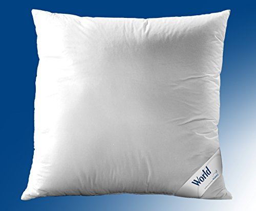 WALBURGA Kopfkissen, Kissen World Dacron® Comforel® Faserbällchen ungesteppt, mit Biese 80 x 80 cm