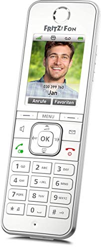 AVM FRITZ!Fon C6 DECT-Komforttelefon (hochwertiges Farbdisplay, HD-Telefonie, Internet-/Komfortdienste, Steuerung FRITZ!Box-Funktionen) weiß, deutschsprachige Version (Generalüberholt)