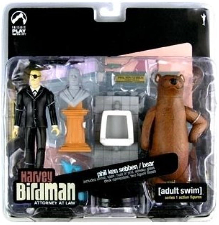 100% precio garantizado Adult Swim Swim Swim Acción Figura Set - Harvey Birdman Phil Ken Sebben and Bear Acción Figura 2-pack by Adult Swim  Más asequible