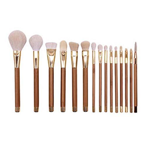 Brosse de maquillage Set 15pcs Pinceau De Maquillage Synthétique Ensemble Base Maquillage Pinceaux Correcteur D'ombres À Paupières Pour Beaauty Cosmétiques Set Brosses (Color : Brown)