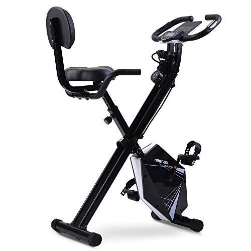 WGYDREAM Bicicleta Estática Reclinable Home Ejercicio Bicicleta Fitness Bicicleta con Pantalla LCD Altura Ajustable Y Bandas De Resistencia Al Brazo para Entrenamiento En Interiores