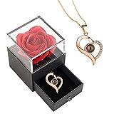 Ewige Rose regalo per donne di compleanno, festa della mamma, rosa infinita, regalo per la mamma o la mamma, San Valentino, festa della mamma, boccioli, regalo di compleanno per donne, fidanzate