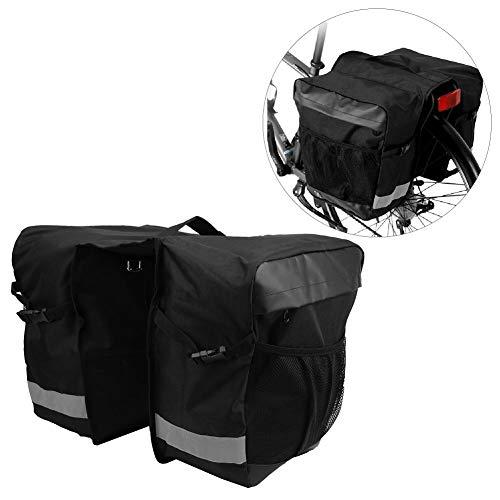 Bicaquu Tragen Sie widerstandsfähige Fahrrad-Gepäckträger-Fahrradtasche Fahrrad-Gepäckträger-Tasche Stilvolles und praktisches Doppeltaschen-Design für Mainstream-Rennräder