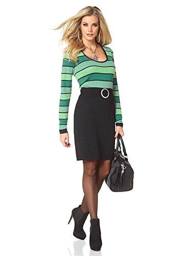 Melrose Damen-Kleid Strickkleid mit Gürtel Mehrfarbig Größe 36