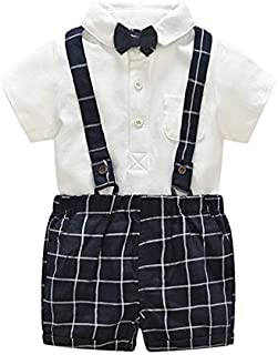 Baby Girl Clothes, Summer Baby Boy 0-3 Months Baby Girl Clothes, Tie Shirt + One-Piece Jacket Set Baby Clothes Girl for Wear on The Body Gift Photograph Home Outdoor (Color : E, Kid Size : 24M)