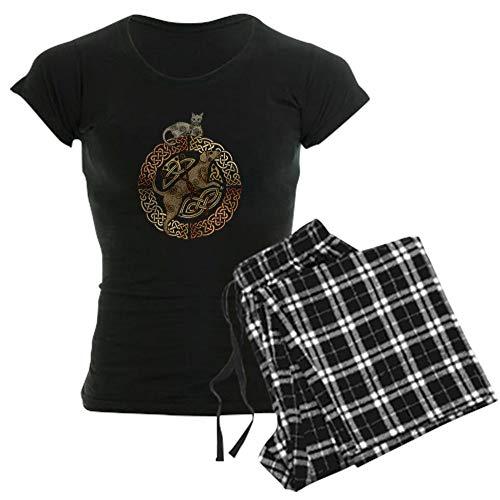 CafePress Celtic Cat and Dog Womens Novelty Cotton Pajama Set, Comfortable PJ Sleepwear