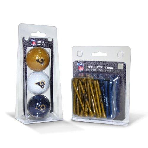 Team Golf NFL Los Angeles Rams Logo Imprinted Golf Balls (3 Count) & 2-3/4