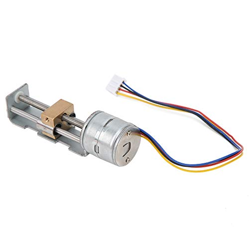 Stepper Motor,2-Phase 4-Wire System Mini Linear Stage Actuator, Small Slide Guide Rail Screw Lead Stepper Motor, 5‑9V/200‑600m Stepper Motor for DIY Small Sliders, Printers